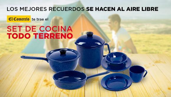 El set de cocina todo terreno una colección ideal para disfrutar con los tuyos al aire libre y olvidarse del estrés.