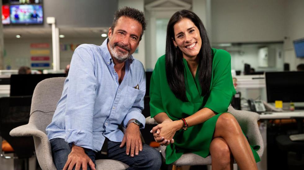 """Carlos Carlín y Gianella Neyra coincidieron en cintas como """"A los 40"""" y """"Locos de Amor"""". (Foto: Jose Rojas / El Comercio)."""