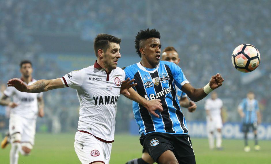 En el partido de ida de la Copa Libertadores, Lanús perdió 1-0 ante Gremio en Porto Alegre. (Foto: AFP)