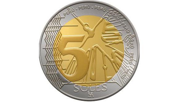 El BCR pone en circulación nueva moneda de 5 soles