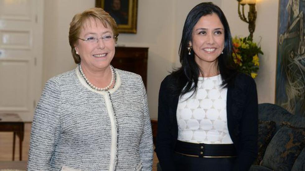 Michelle Bachelet recibió a Nadine Heredia en La Moneda - 3