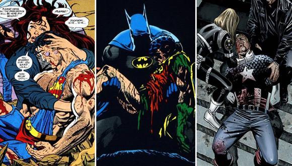 Las muertes más impactantes del mundo de los cómics