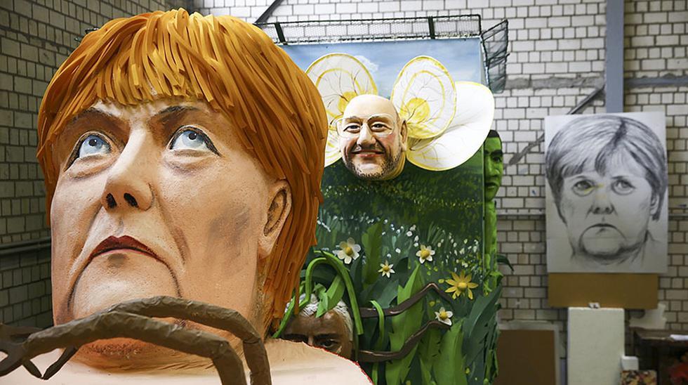 Muñecos de personajes mundiales destacan en carnavales alemanes - 5