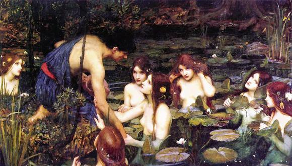 El cuadro de Waterhouse ha despertado sospechas por la exhibición de varias adolescentes con el torso desnudo. [Foto: Manchester Art Gallery]