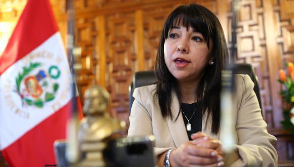 Mirtha Vásquez dijo confiar que el resto de bancadas no apoyará la censura desde Podemos Perú. (Foto: GEC)