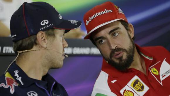 """F1: Vettel llamó """"idiota"""" a Alonso y así respondió el español"""