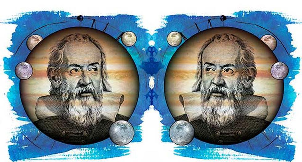Los miles de nuevas estrellas que vio Galileo utilizando un telescopio, confirmaban lo pequeño que resultaba nuestro mundo en el espacio. (Ilustración: Rolando Pinillos)