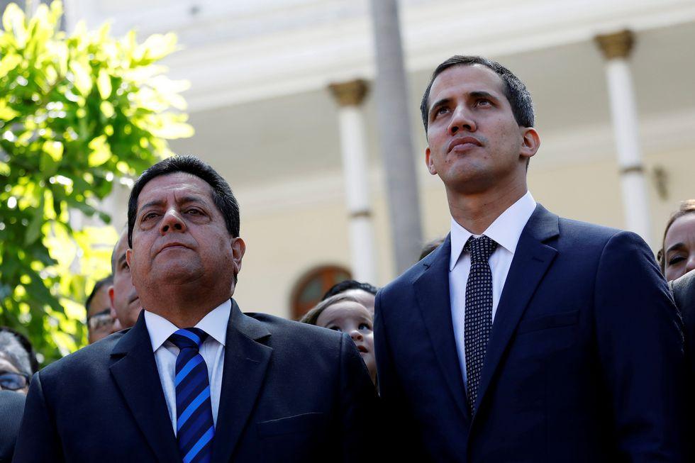 El diputado Édgar Zambrano es un cercano colaborador del presidente encargado Juan Guaidó. (Reuters).