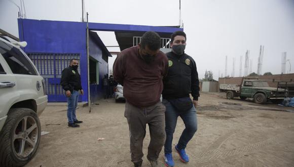 """""""Todos los que han sido intervenidos registran ingresos a diversos centros penitenciarios, principalmente por el delito robo agravado"""", señaló el jefe de Investigación de División de Robos de la Dirincri (Foto: César Grados/ @photo.gec)"""