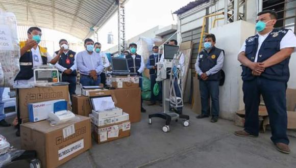 Ica: Minsa entrega cuatro ventiladores mecánicos a hospitales iqueños. (Foto: Gore Ica)