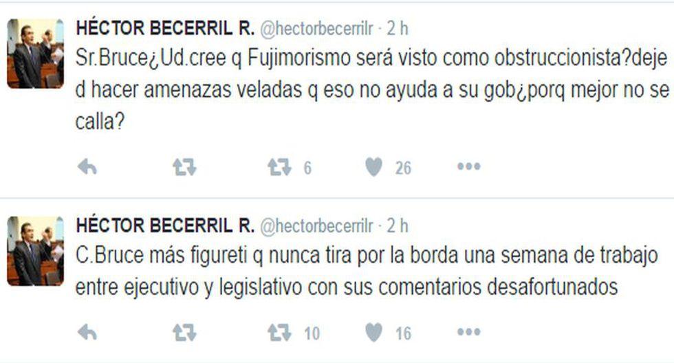 """Héctor Becerril a Carlos Bruce: """"¿Por qué mejor no se calla?"""" - 2"""
