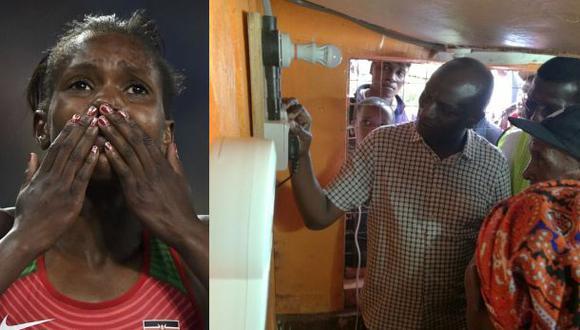 La medallista cuyo logro llevó electricidad a su aldea en Kenia