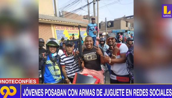 La Policía comprobó que las armas eran de juguete y liberó a los intervenidos. (Latina)