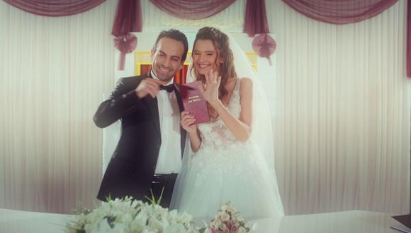 La boda de Candan y Demir. (Foto: Telemundo)