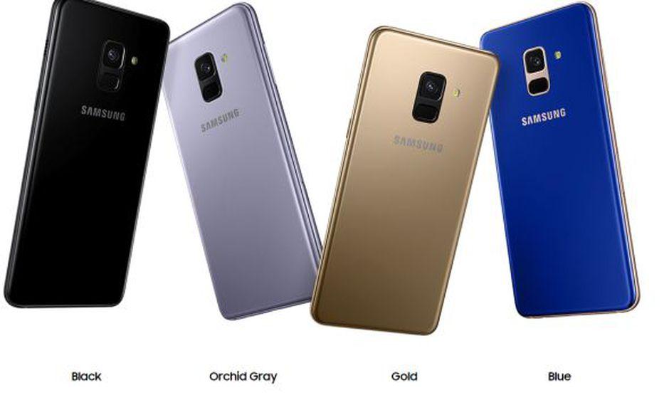 Gama de colores del Samsung Galaxy A8. (Foto: Samsung)