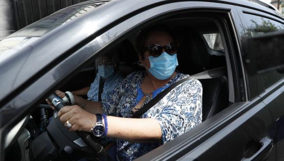 Rosario Sasieta fue intervenida por la Policía tras protagonizar accidente de tránsito. (Foto: Hugo Pérez/photo.gec)