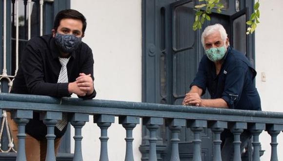 Cineasta Alejandro Legaspi y Renato Piaggio, director de la asociación Kapchiy. (Foto: Difusión / Stuardo Huertas)