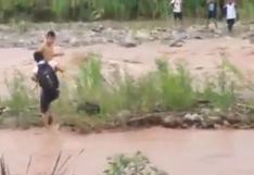 Huánuco: escolares arriesgan sus vidas al cruzar un caudaloso río | VIDEO