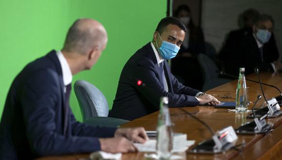 El ministro italiano Luigi Di Maio, durante una conferencia de prensa en el Palacio de Farnesina, Roma. EFE/EPA/MASSIMO PERCOSSI