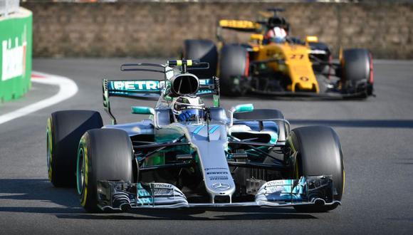 El finlandés Valtteri Bottas (Mercedes) se subió en el segundo puesto del podio. (Foto: Agencias)