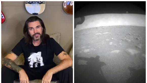 La aparición de Juanes en la transmisión de la llegada del rover Perseverance a Marte. (Foto: NASA)