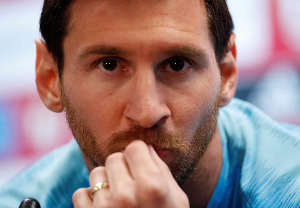 Lionel Messi se refirió a la eliminación de la Champions, la continuidad de Valverde en el banquillo del Barcelona y la Bota de Oro.   Foto: Reuters