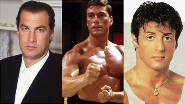 Jean-Claude Van Damme almost hit Steven Seagal at a party, Sylvester Stallone revealed (Photo: Getty / IMDb)