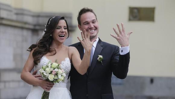 Vanessa Terkes y George Forsyth se casaron en setiembre del 2018 en una íntima ceremonia en la iglesia San Pedro. Ocho meses después se separaron. (Foto: USI / archivo El Comercio)
