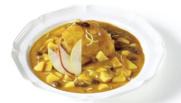 Muslos de pollo al curry