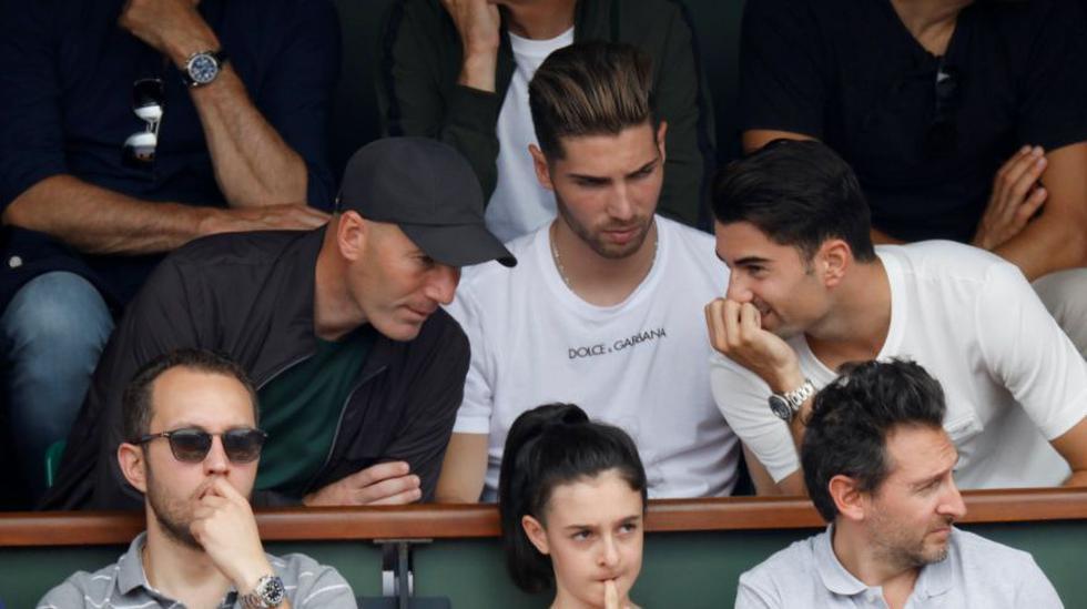 Zidane en Roland Garros. (Fotos: Agencias)