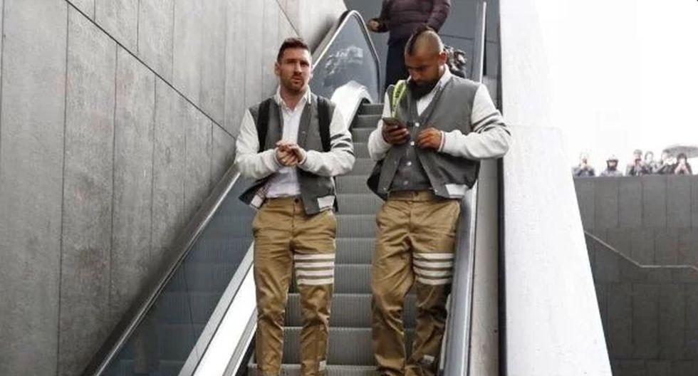El llamativo 'look' de Messi y Vidal en la previa del Barcelona vs Atlético de Madrid. (FC Barcelona)