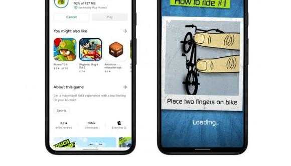 Con Android 12 podrás disfrutar de un juego antes que se descargue por completo (Foto: Android)