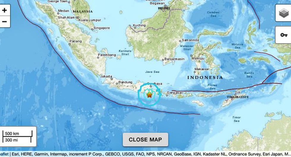 Magnitude 6 earthquake shakes waters off the Indonesian island of Java