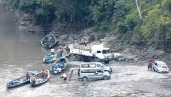 Mineros ilegales usan río Inambari para burlar controles
