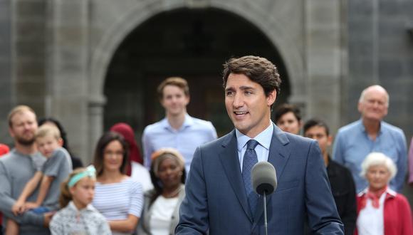 Trudeau inició la campaña con una ligera ventaja en las encuestas, sobre los conservadores liderados por Andrew Scheer. (Foto: AFP)