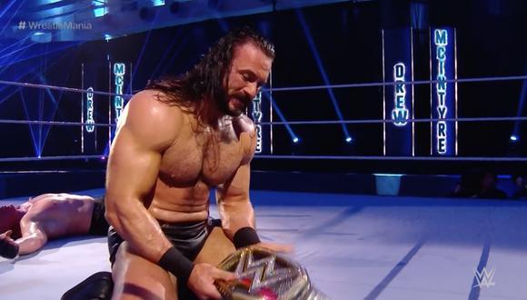 Drew McIntyre se consagró campeón de la WWE en WrestleMania 35