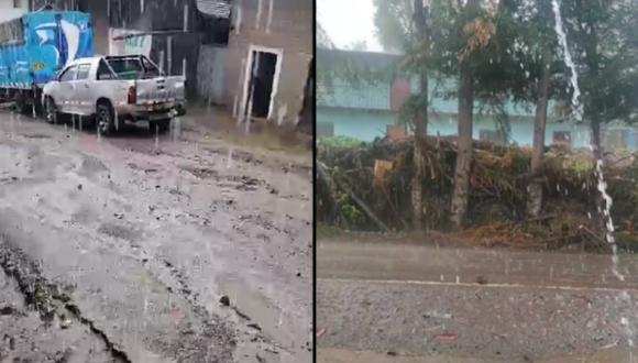 Calles y viviendas vienen siendo afectadas por la fuerte lluvia (Foto: Difusión)