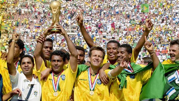 Brasil se coronó campeón del Mundial Estados Unidos 1994 en la tanda de penales frente a Italia. (Foto: AFP)
