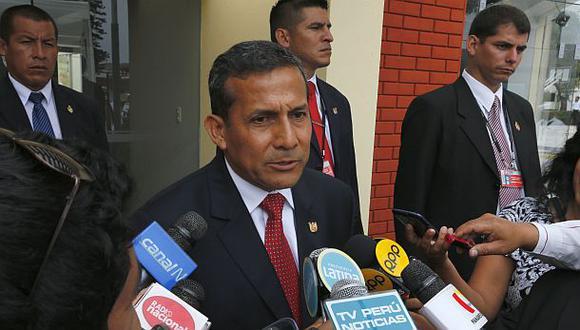 """Humala: """"Plan reactivador no varía parámetros ambientales"""""""