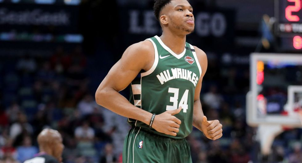FILE PHOTO: Feb 4, 2020; New Orleans, Louisiana, USA; Milwaukee Bucks forward Giannis Antetokounmpo (34) during the first quarter against the New Orleans Pelicans at the Smoothie King Center. Mandatory Credit: Derick E. Hingle-USA TODAY Sports/File Photo