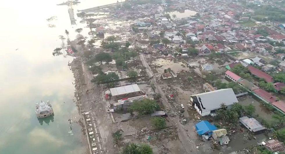 Imágenes de un dron captaron los daños a viviendas en Indonesia  | Foto: Reuters