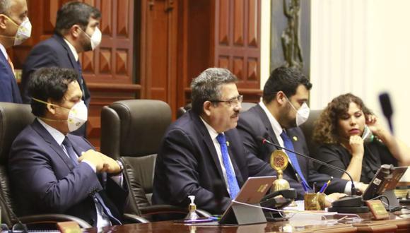 El presidente del Congreso reiteró que en el último pleno se tomaron todas las medidas de seguridad ante el coronavirus. (Foto: Congreso)