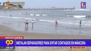 Piura: instalan separadores en playas para prevenir contagios de coronavirus