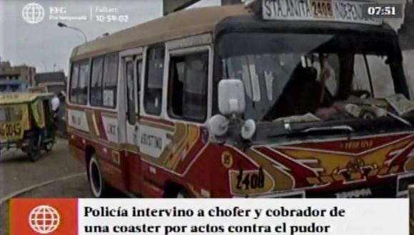 Chofer y cobrador detenidos por actos obscenos contra pasajera