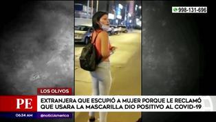 Los Olivos: mujer que escupió a pasajera porque le pidió que se ponga mascarilla, dio positivo a COVID-19