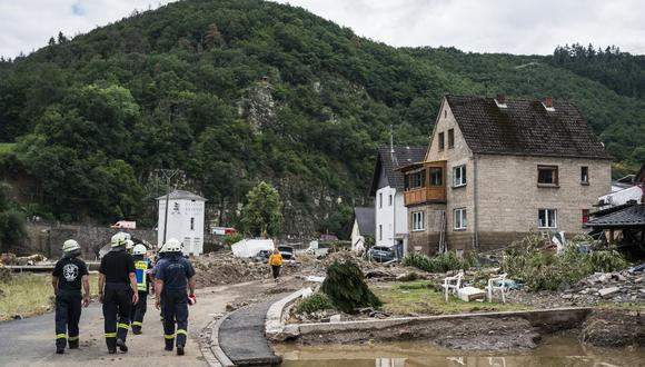 Al menos 180 personas murieron a causa de las graves inundaciones que asolaron el oeste de Alemania durante dos días a mediados de julio y que levantaron críticas por si se hizo lo suficiente para advertir con antelación a los residentes. (Foto: Bernd Lauter / AFP)