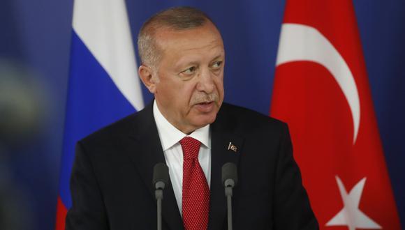 """Recep Tayyip Erdogan amenaza con operación en Siria """"en semanas"""" si Turquía no controla la """"zona de seguridad"""". (AFP)."""