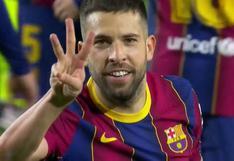 Barcelona vs. Elche: Jordi Alba puso 3-0 a los azulgranas tras conexión Messi-Braithwaite | VIDEO