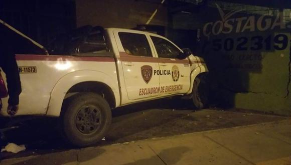 Fallas mecánicas en el vehículo de la PNP habría ocasionado el accidente. (Pablo Carrión).