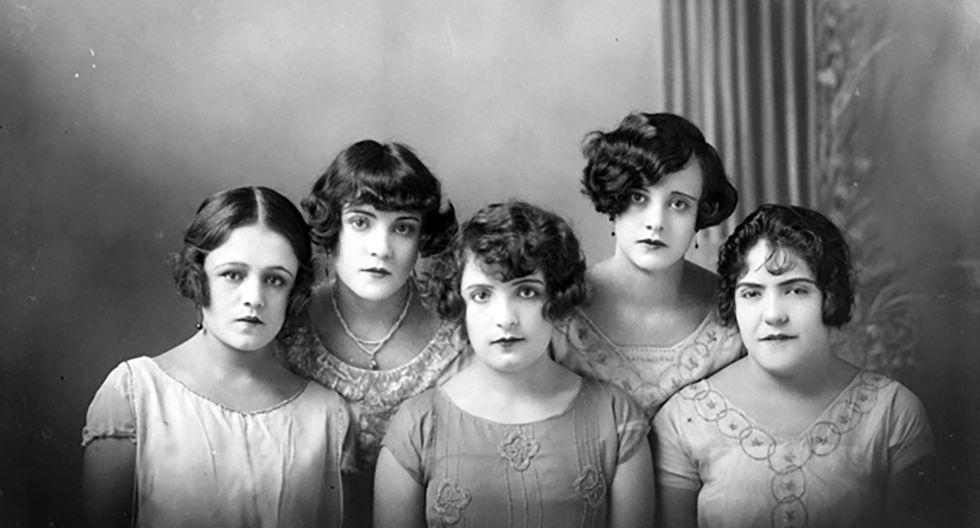 Retrato de mujeres tomado por el fotógrafo Rutilo Patiño en Jaral del Progreso, Guanajuato, México, ca. 1925. Foto: Colección y Archivo de Fundación Televisa